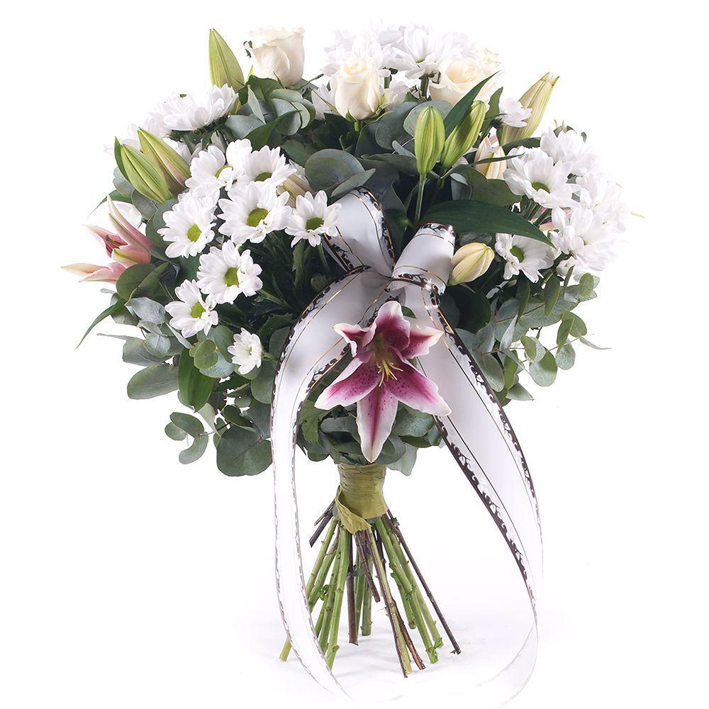 4b3aa2f75 Smútočná kytica biele chryzantémy | KVETY.sk