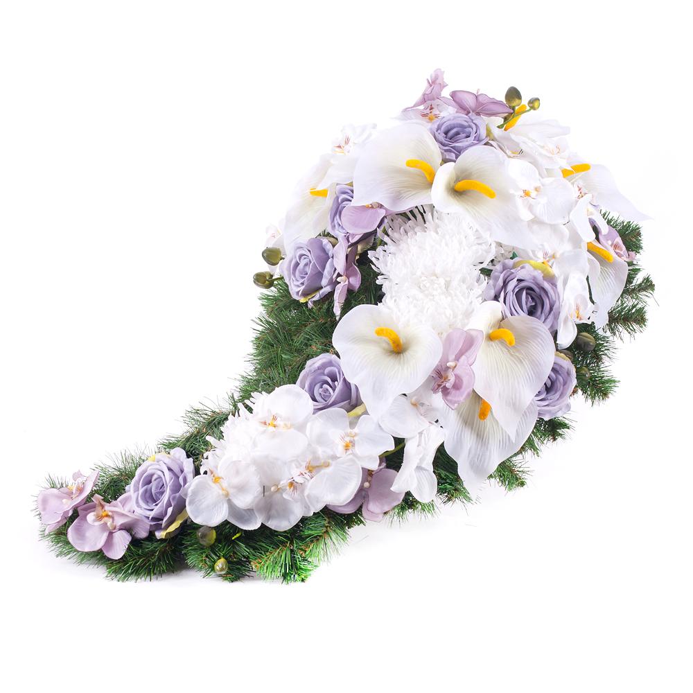 fe7430d60 Irigo smútočná slza biele a fialové kvety | KVETY.sk