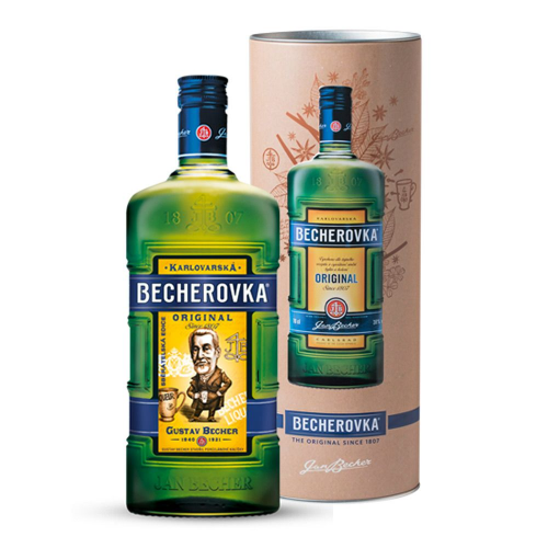 Becherovka steel box, 0,7 l